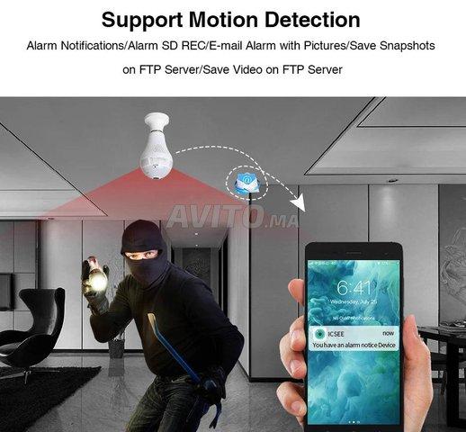 Ampoule Caméra WiFi Full HD 1080p panoramique 360  - 4