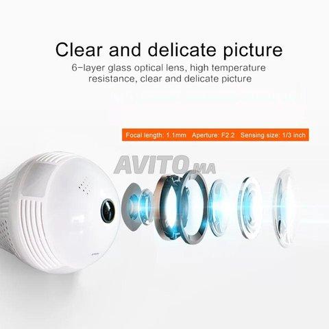 Ampoule Caméra WiFi Full HD 1080p panoramique 360  - 6