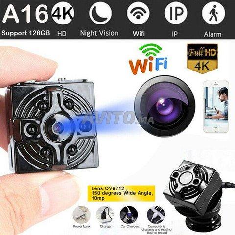 Mini Caméra espion WiFi 4K 1080P Accès à Distance - 1