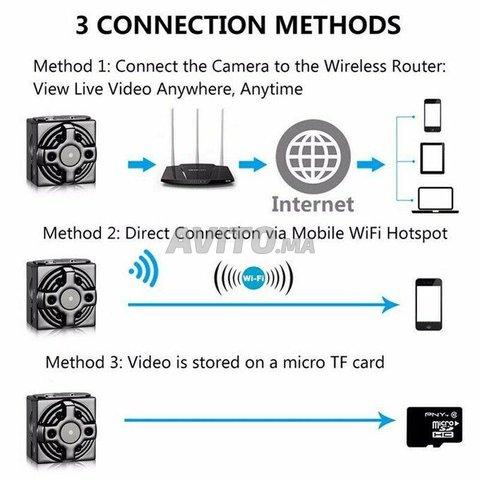 Mini Caméra espion WiFi 4K 1080P Accès à Distance - 2