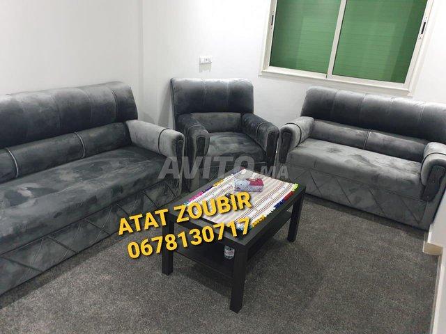 des fauteuils 3 pièces en tissus anti tâche neuf - 1