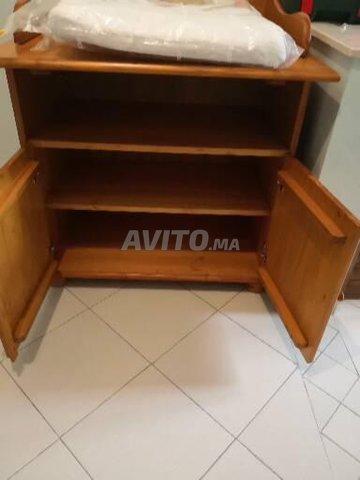 Table à langer en pin avec rangements intégrés  - 2