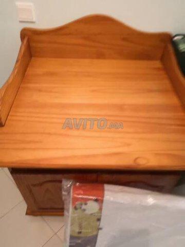 Table à langer en pin avec rangements intégrés  - 4