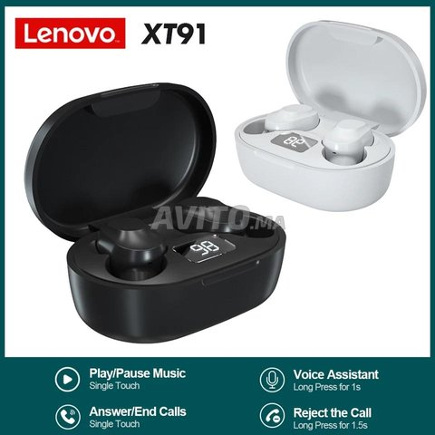 Lenovo XT91 Originel TWS Écouteurs Bluetooth 5.0  - 2
