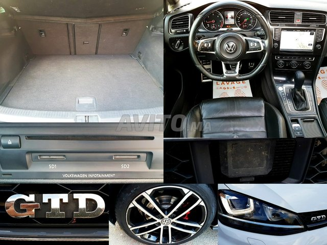 VW GOLF 7 GTD 2.0 TDI 184 DSG TOUTES OPTIONS - 8