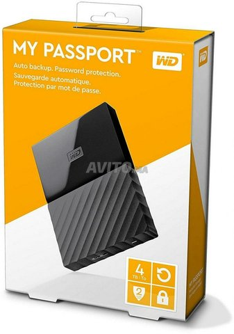 WD Disque dur externe portable USB 3.0 4TB NEUF - 1