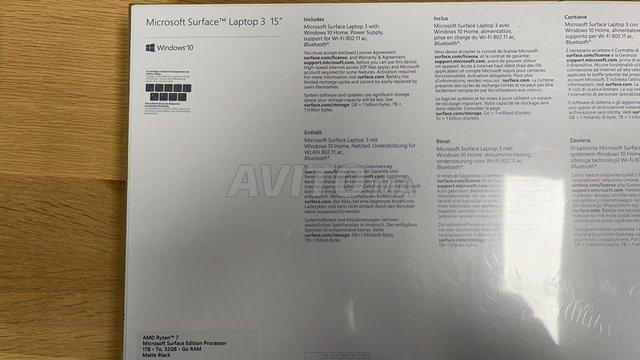 15'' Surface Laptop 3 AMD Ryzen 7 32GB 1TB SSD - 5