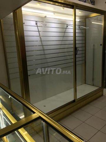 Vitrine doré aluminium - 1