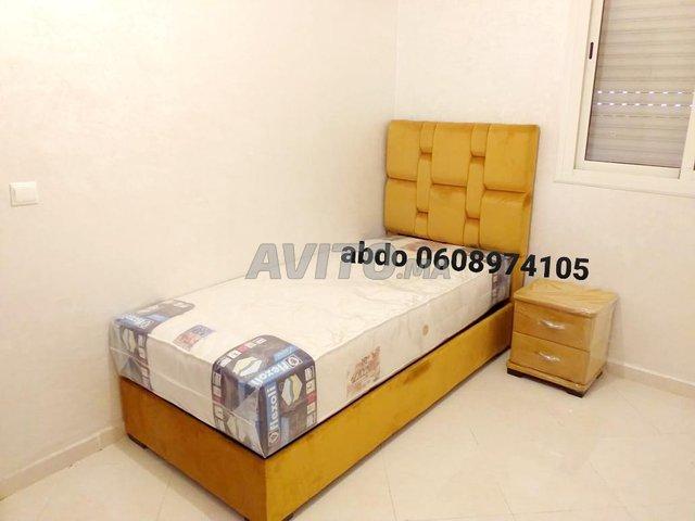 le lit une place 90/190 Et matelas  - 1