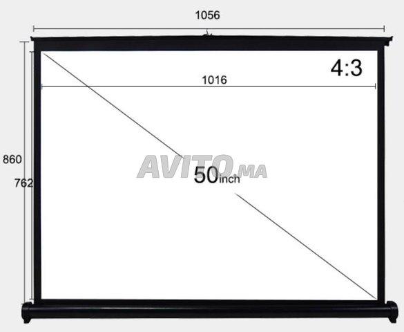 V50 Portable Écran de projection 50 pouces - 4
