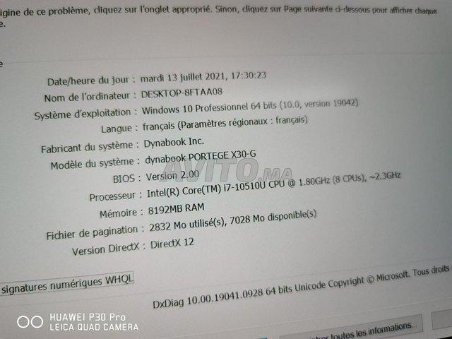 Toshiba Dynabook Portege i7 10TH 8Go 256Go SSD  - 5