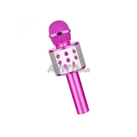 Microphone hautparleur karaoké Bluetooth sans fil - 7