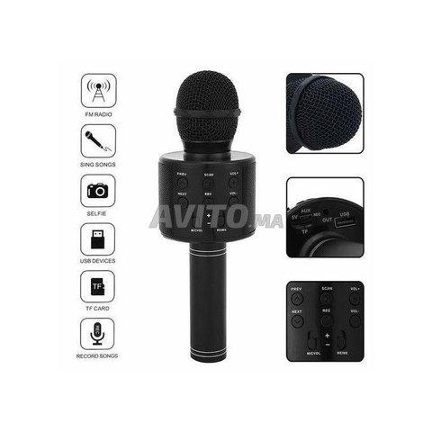 Microphone hautparleur karaoké Bluetooth sans fil - 2