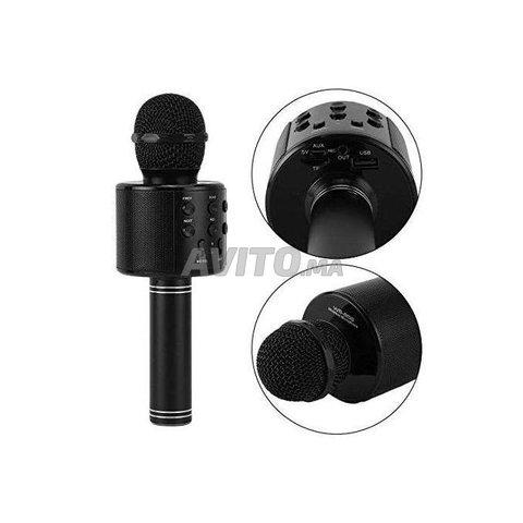 Microphone hautparleur karaoké Bluetooth sans fil - 4