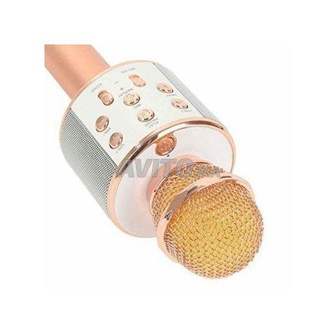 Microphone hautparleur karaoké Bluetooth sans fil - 1