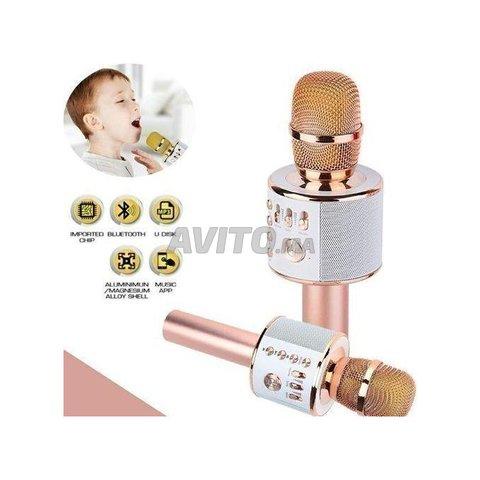 Microphone hautparleur karaoké Bluetooth sans fil - 8