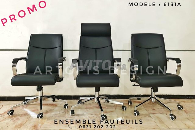Ensemble de fauteuils de bureau  - 2