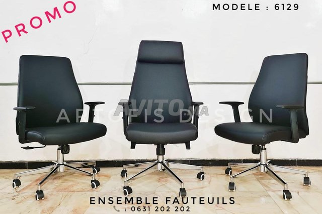 Ensemble de fauteuils de bureau  - 3