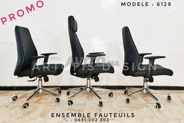 Ensemble de fauteuils de bureau  - 4