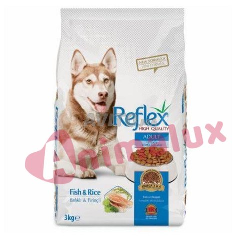 Croquettes Reflex high quality fish and rice 3kg - 1
