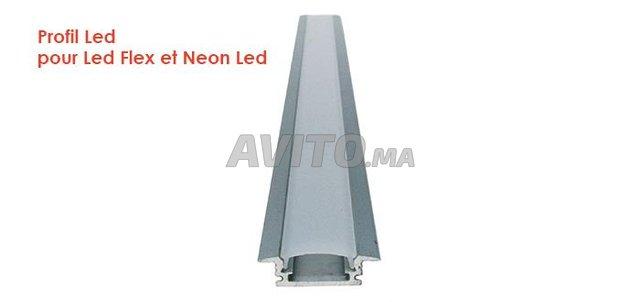 Profilé encastrable pour bandes LED plat  COB  - 2