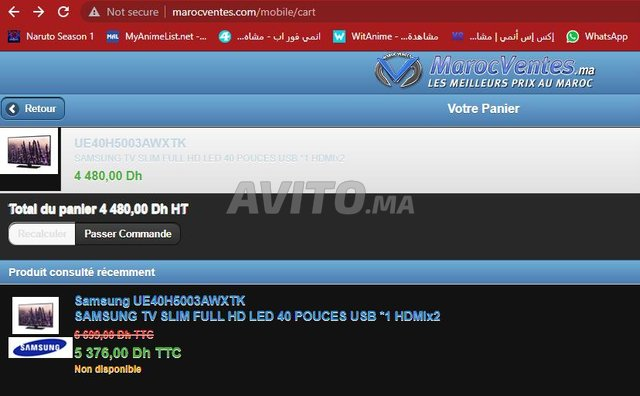 SAMSUNG TV SLIM FULL HD LED 40 POUCES USB 1 HDMIx2 - 1