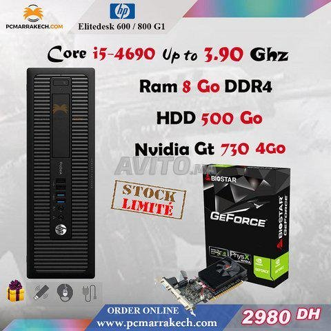 Core i5-4690 Up to 3.90 Ghz 8Go Nvidia Gt 730 4Go - 1