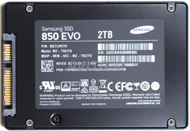 SAMSUNG 850 EVO 2To SSD NEUF  un bon prix - 2