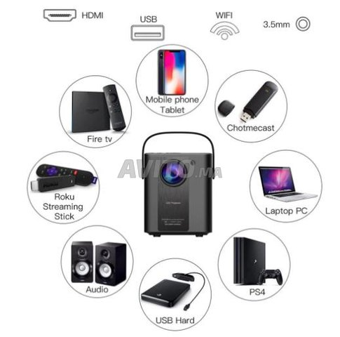 Projecteur 1080P Full HD Smart Wifi Android - 1