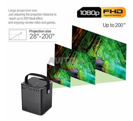 Projecteur 1080P Full HD Smart Wifi Android - 3
