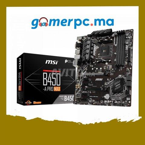 MSI B450-A PRO MAX Carte mère ATX Socket AM4 AMD  - 1