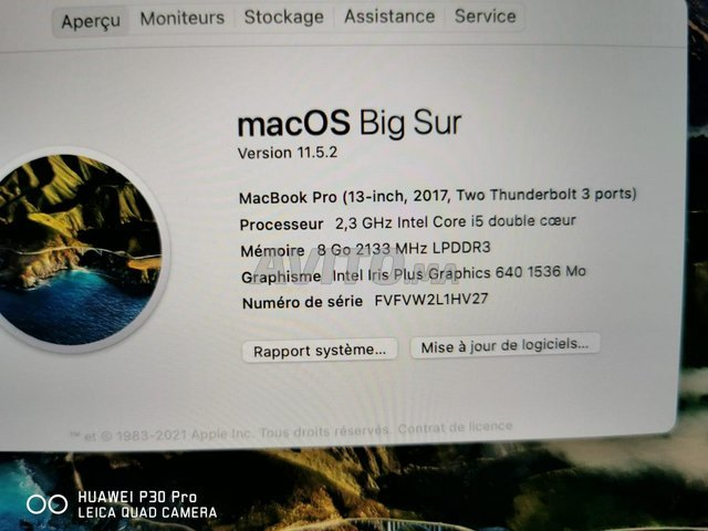 Macbook Pro 2017 i5 8Go 128Go Gris Sidéral Sans To - 5