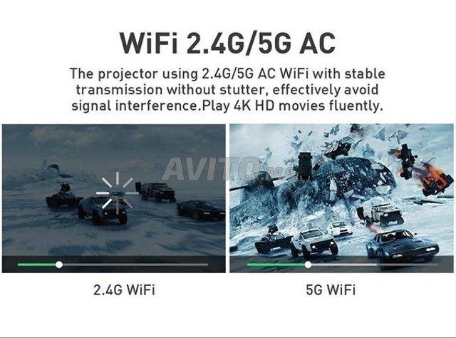 Projecteur P09-2 4K 3D DLP 2/16GB ROM Android 9.0  - 3