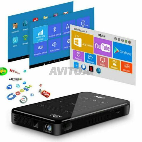 Projecteur P09-2 4K 3D DLP 2/16GB ROM Android 9.0  - 4