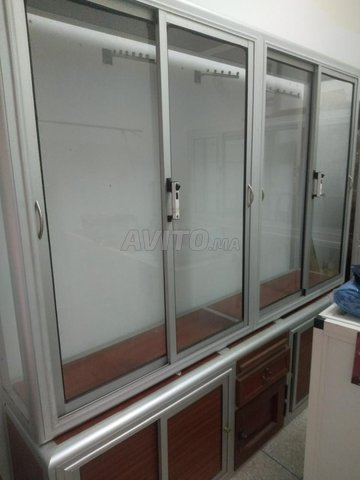 Comptoir 2 vitrine cadre de la porte en aluminium - 7