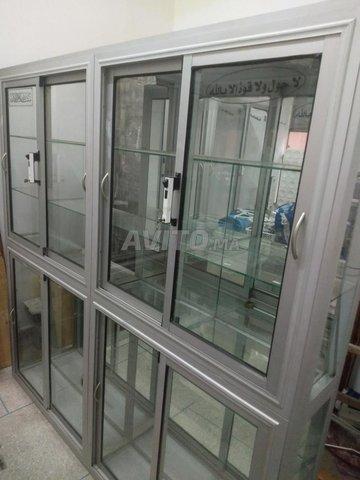 Comptoir 2 vitrine cadre de la porte en aluminium - 6