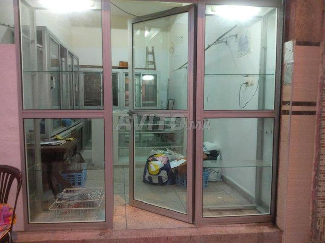 Comptoir 2 vitrine cadre de la porte en aluminium - 3