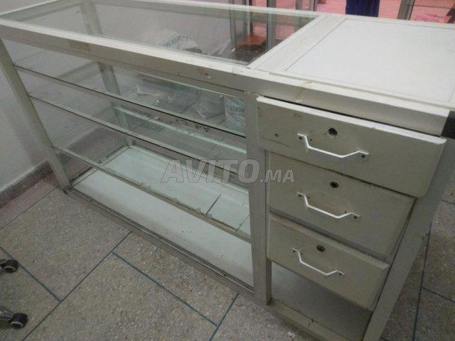Comptoir 2 vitrine cadre de la porte en aluminium - 4