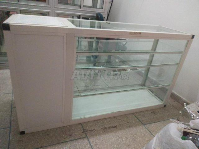 Comptoir 2 vitrine cadre de la porte en aluminium - 1
