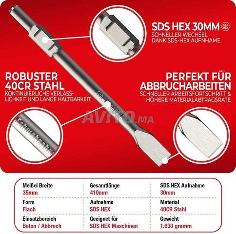 Burin plat SDS-Hexagonal 35 x 400 mm pro - 5