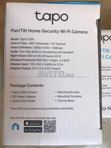 TP-Link Tapo Caméra WiFi  C200  1080P - 3