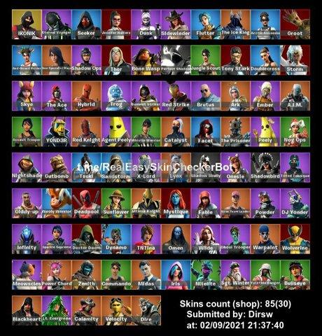 Compte ikonik 85 skins  - 1