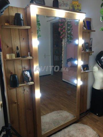 Jolie Miroir en bois pour votre décor - 1
