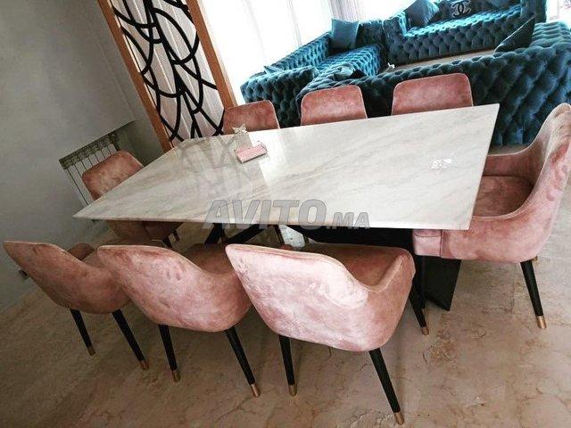 Table à manger marbre - 1