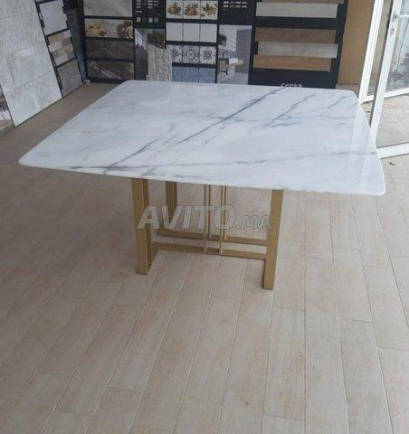 Table à manger marbre - 5