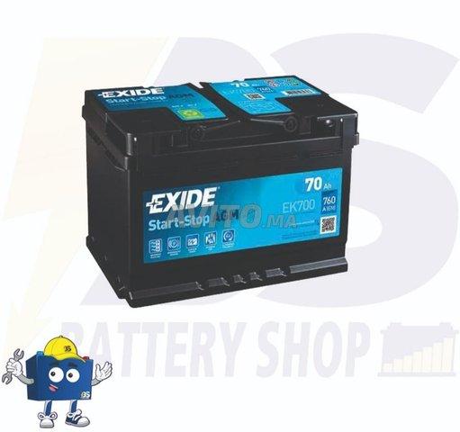 BATTERIE  EXIDE L3 AGM START STOP 12V 70 Ah 760 A - 1