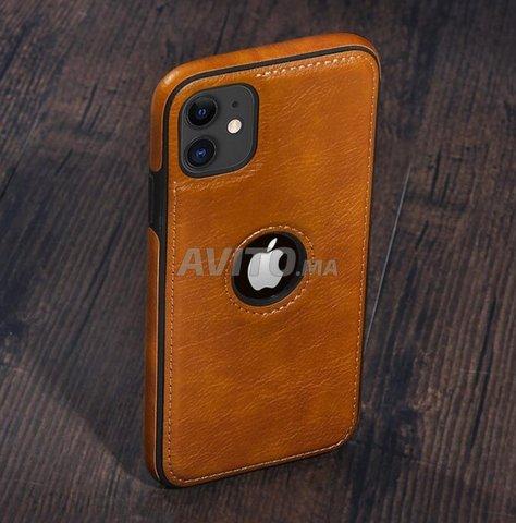 Coque premium en cuir pour iPhone 11 - Pochette - 1