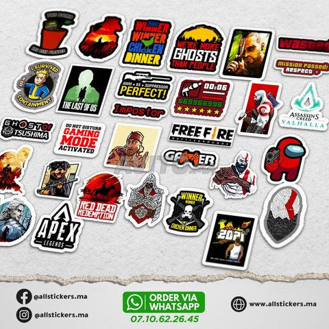 Gaming Stickers Pack - 2