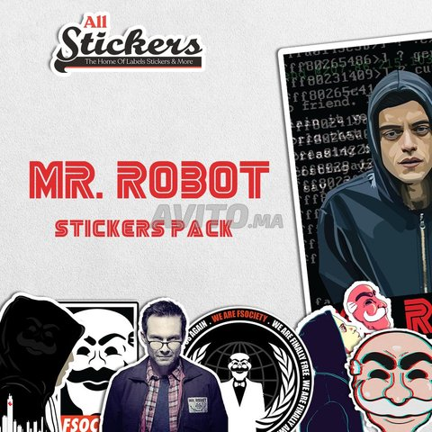 Mr Robot Stickers Pack - 1