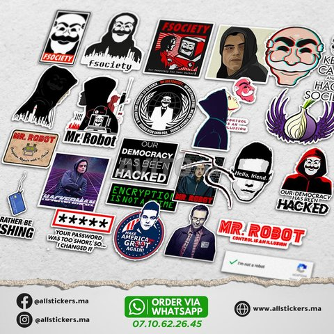 Mr Robot Stickers Pack - 2